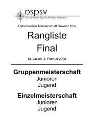 Rangliste Sonntag, Jugend, Junioren - auf lgek.ch