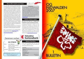 Bulletin 01 / 07 - Offiziersgesellschaft Nidwalden