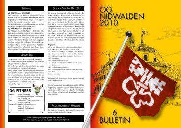 Bulletin 06 / 10 - Offiziersgesellschaft Nidwalden
