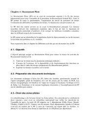 Chapitre 4 : Recensement Pilote 4.1.- Objectifs 4.2 ... - Niger