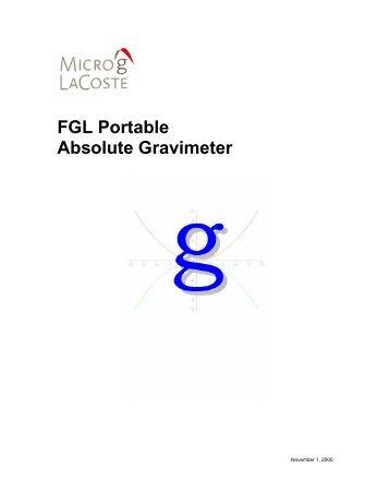 """g"" Version 2 - Micro-g LaCoste Gravity Meters"