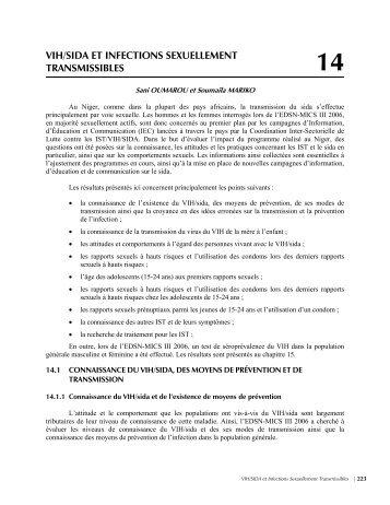 vih/sida et infections sexuellement transmissibles - Niger