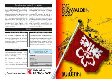 Bulletin 02 / 07 - Offiziersgesellschaft Nidwalden