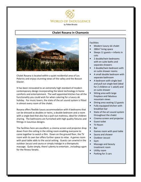 Chalet Rosana in Chamonix - World of Indulgence