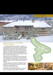 Chalet Val Pierre - World of Indulgence