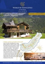 Chalet Lumiere - World of Indulgence