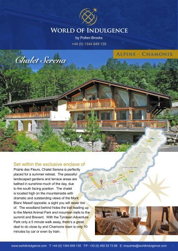 Chalet Serena Alpine - Chamonix - World of Indulgence