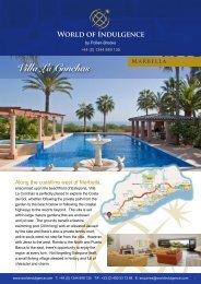 Villa La Conchas Marbella - World of Indulgence