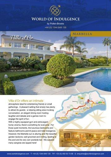 Villa d'Or - Pollen-Brooks Leisure