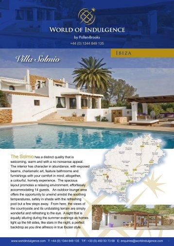 Villa Solmio - World of Indulgence