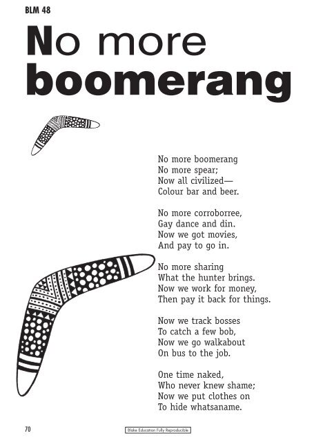 colloquial language in no more boomerang