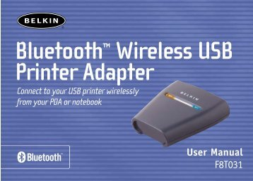 Bluetooth™ Wireless USB Printer Adapter