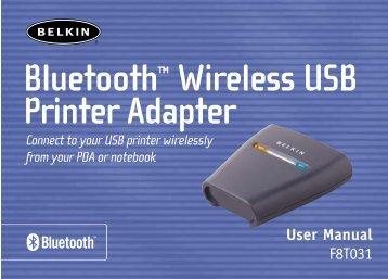 Bluetooth™ Wireless USB Printer Adapter
