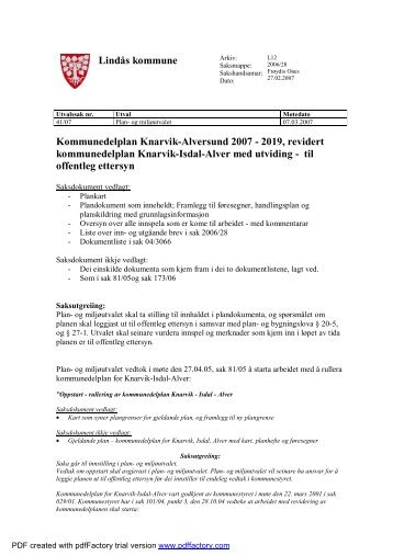 Kommunedelplan Knarvik-Alversund 2007 - 2019, revidert ...