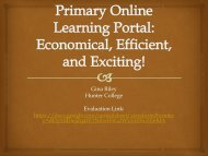 WordPress as a Primary Online Learning Portal ... - NERCOMP