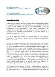 European Association of Establishments for Veterinary ... - EAEVE