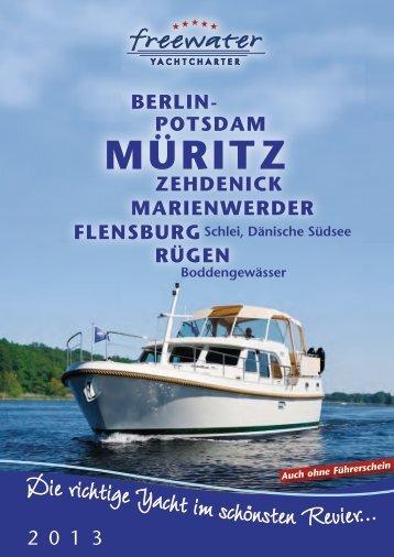 Unsere aktuelle Broschüre 2013 - freewater Yachtcharter