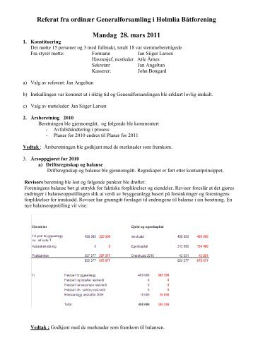 Referat fra generalforsamling som ble avholdt mandag 28. mars ...