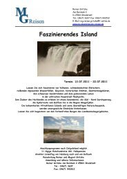 Faszinierendes Island - MG Skandinavien Reisen