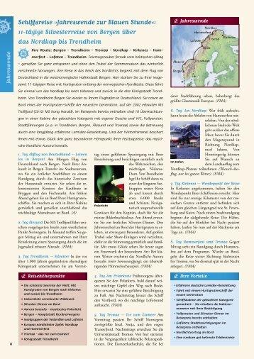 Schiffsreise »Jahreswende zur Blauen Stunde«: 11 ... - MG Reisen