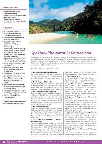 Spektakuläre Natur in Neuseeland - MG Skandinavien Reisen