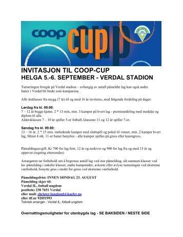invitasjon til coop-cup helga 5.-6. september - verdal ... - Orkanger IF