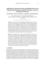 Multi-Priority Alternative Journey and Routing Protocol ... - SBRC 2010