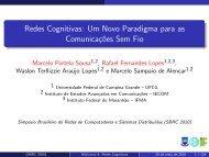 Redes Cognitivas: Um Novo Paradigma para as ... - SBRC 2010