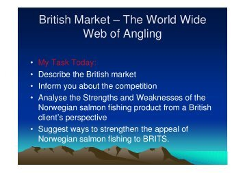 British Market – The World Wide Web of Angling