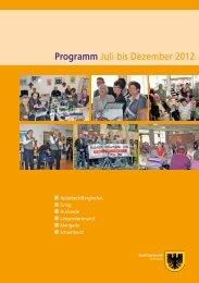 Programm Juli bis Dezember 2012 - Dortmund.de