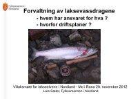 Forvaltning av lakse.. - Norske Lakseelver