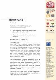 "Final Report: ""Techno-Classica Essen 2007"" top rated again ..."
