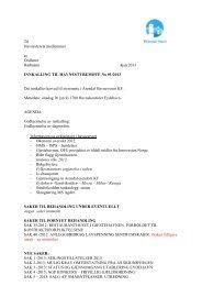 Innkalling og sakspapirer Onsdag 30 januar 2013 - Arendal Havn