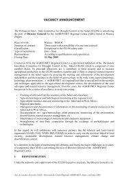comite permanent inter-etats de lutte contre la secheresse - CILSS