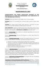 Executive Order No. 31, s. 2013 STRENGTHENING THE ... - Jagna