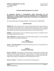 New Approved Jagna Zoning Ordinance