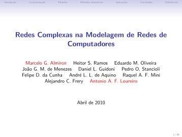 Redes Complexas na Modelagem de Redes de ... - SBRC 2010
