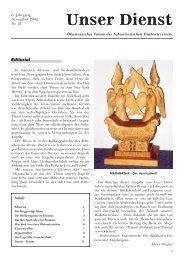 Editorial - Schweizerische Diakonieverein - Diakonie Nidelbad
