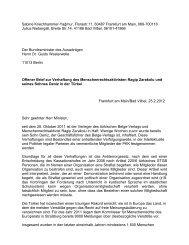 Offener Brief - Demokratie hinter Gittern