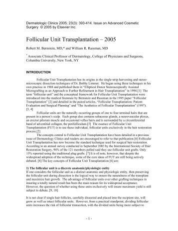 Follicular Unit Hair Transplantation - New Hair Institute