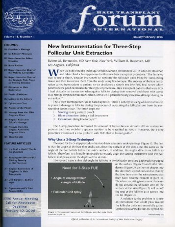 New Instrumentation for Three-Step Follicular Unit Extraction