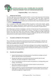1 Programme Officer - Terms of Reference - African Agricultural ...