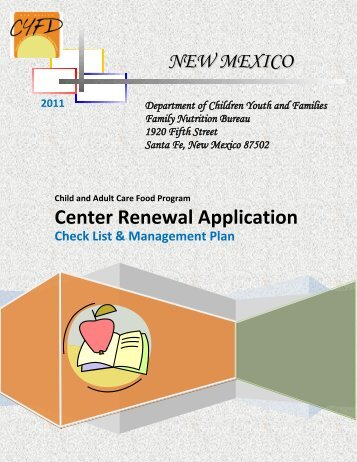 CACFP Application Packet - New Mexico Kids