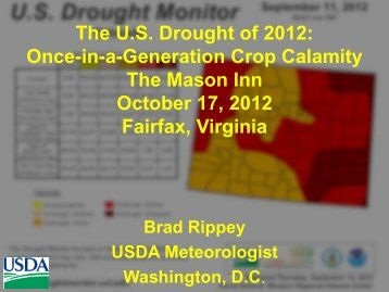 The U.S. Drought of 2012: Once-in-a-Generation Crop Calamity The ...
