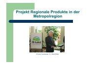 Projekt Regionale Produkte in der Metropolregion - HI-LAND