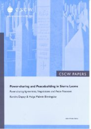 Power-sharing and Peace-building in Sierra Leone - PRIO