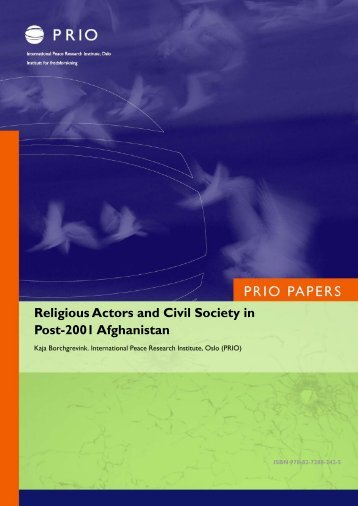 Religious Actors and Civil Society in Post-2001 Afghanistan - CMI