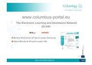 Columbus Portal - e-Learning Baltics