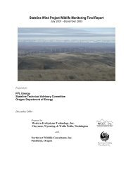 Stateline Wind Project Wildlife Monitoring Final Report - WEST, Inc.