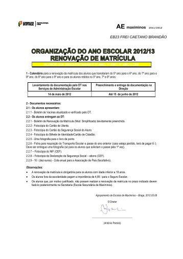 EB23 Frei Caetano Brandão - Agrupamento de Escolas de Maximinos